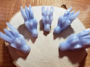 blue lace agate dragon skulls